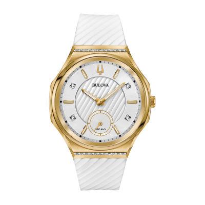 Bulova Womens White Watch Boxed Set-98r237