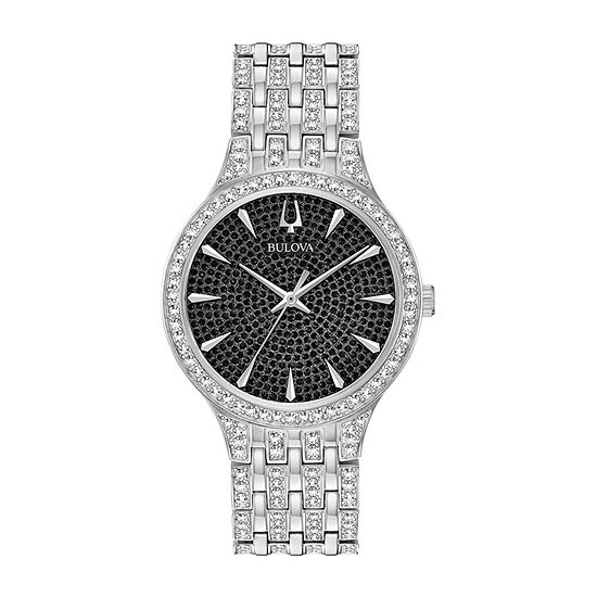 Bulova Phantom Mens Silver Tone Stainless Steel Bracelet Watch-96a227