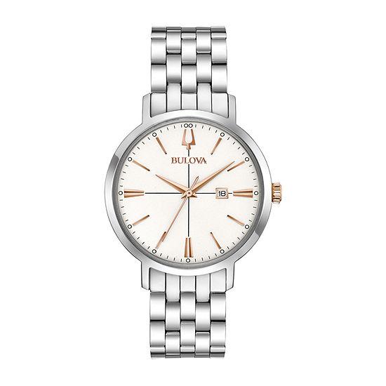 Bulova Aerojet Womens Silver Tone Stainless Steel Bracelet Watch-98m130