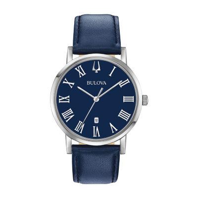 Bulova Mens Blue Strap Watch-96b295