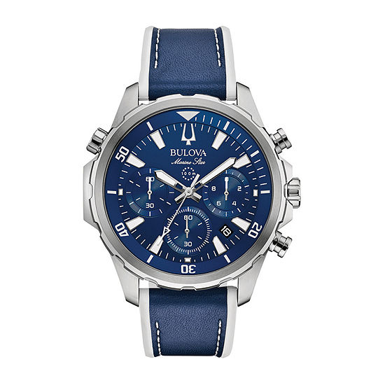 Bulova Marine Star Mens Blue Strap Watch-96b287