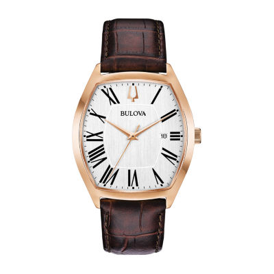 Bulova Mens Brown Strap Watch-97b173
