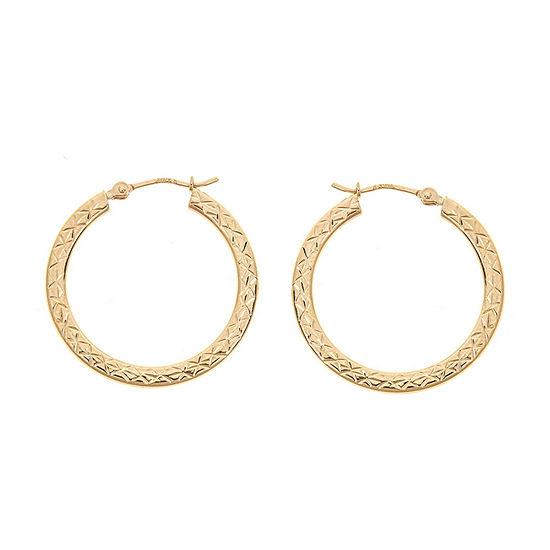 14K Gold 25mm Hoop Earrings