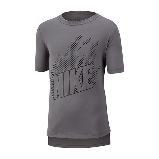 Nike Boys Crew Neck Short Sleeve Dri-Fit Graphic T-Shirt Big Kid