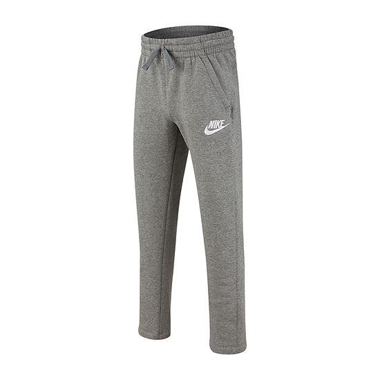 Nike Boys Cotton Fleece Straight Pull-On Pants - Big Kid
