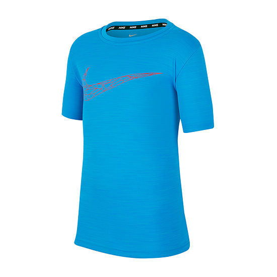 Nike Boys Crew Neck Short Sleeve Dri-Fit T-Shirt-Big Kid