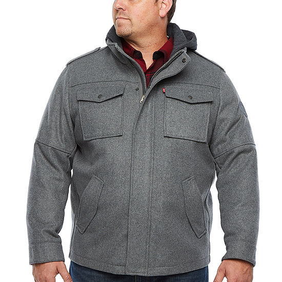 Levi's Hooded Midweight Peacoat Big and Tall