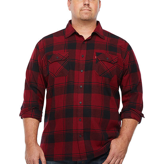 Levi's Mens Long Sleeve Plaid Button-Front Shirt Big and Tall