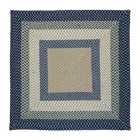 Colonial Mills Montego Reversible Braided Indoor/Outdoor Rectangular Rug, One Size , Blue
