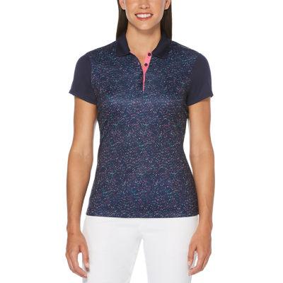 PGA TOUR Womens Collar Neck Short Sleeve Polo Shirt