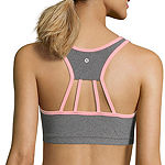 Xersion Zip Front Strappy Back Sports Bra