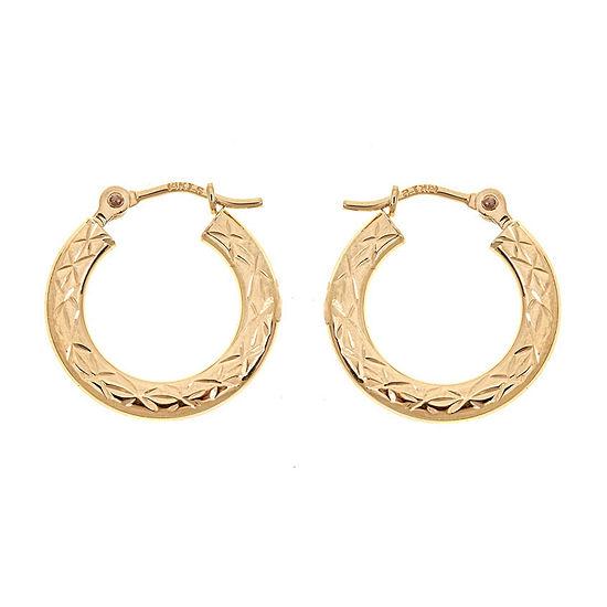 14K Gold 15mm Hoop Earrings