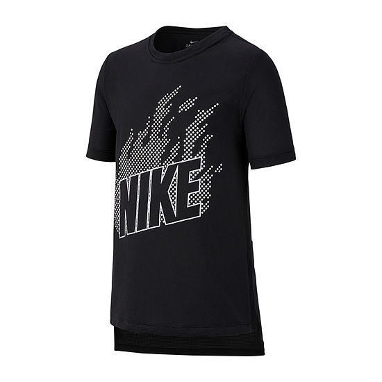 Nike Big Boys Dri-Fit Crew Neck Short Sleeve Graphic T-Shirt