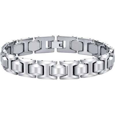 Mens Tungsten Carbide Link Bracelet