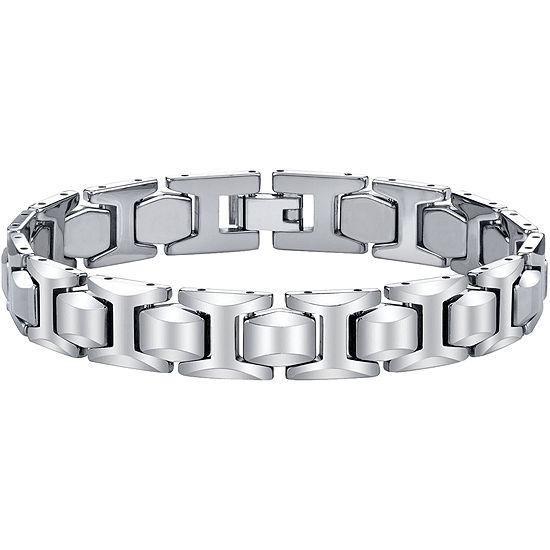 Mens Tungsten Carbide Link Bracelet