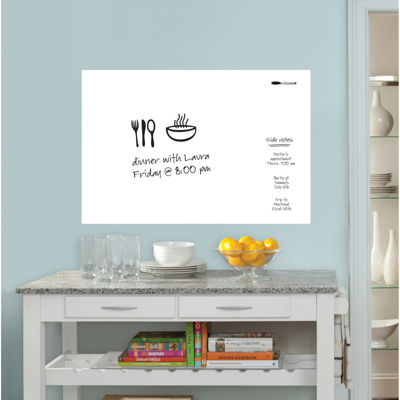Large Whiteboard Dry-Erase Wall Decal  sc 1 st  JCPenney & Whiteboard Wall Decal