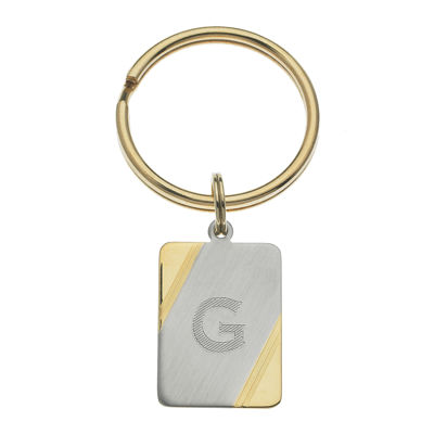 Personalized Two-Tone Key Ring