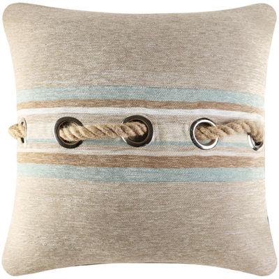"Queen Street® Nantucket 18"" Square Decorative Pillow"