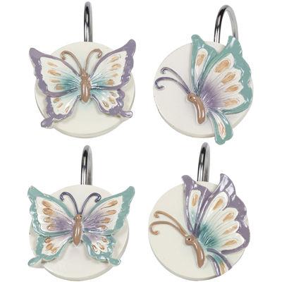 Creative Bath™ Garden Gate Butterfly Shower Curtain Hooks