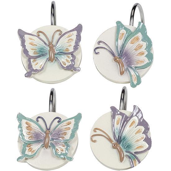 Creative BathTM Garden Gate Butterfly Shower Curtain Hooks