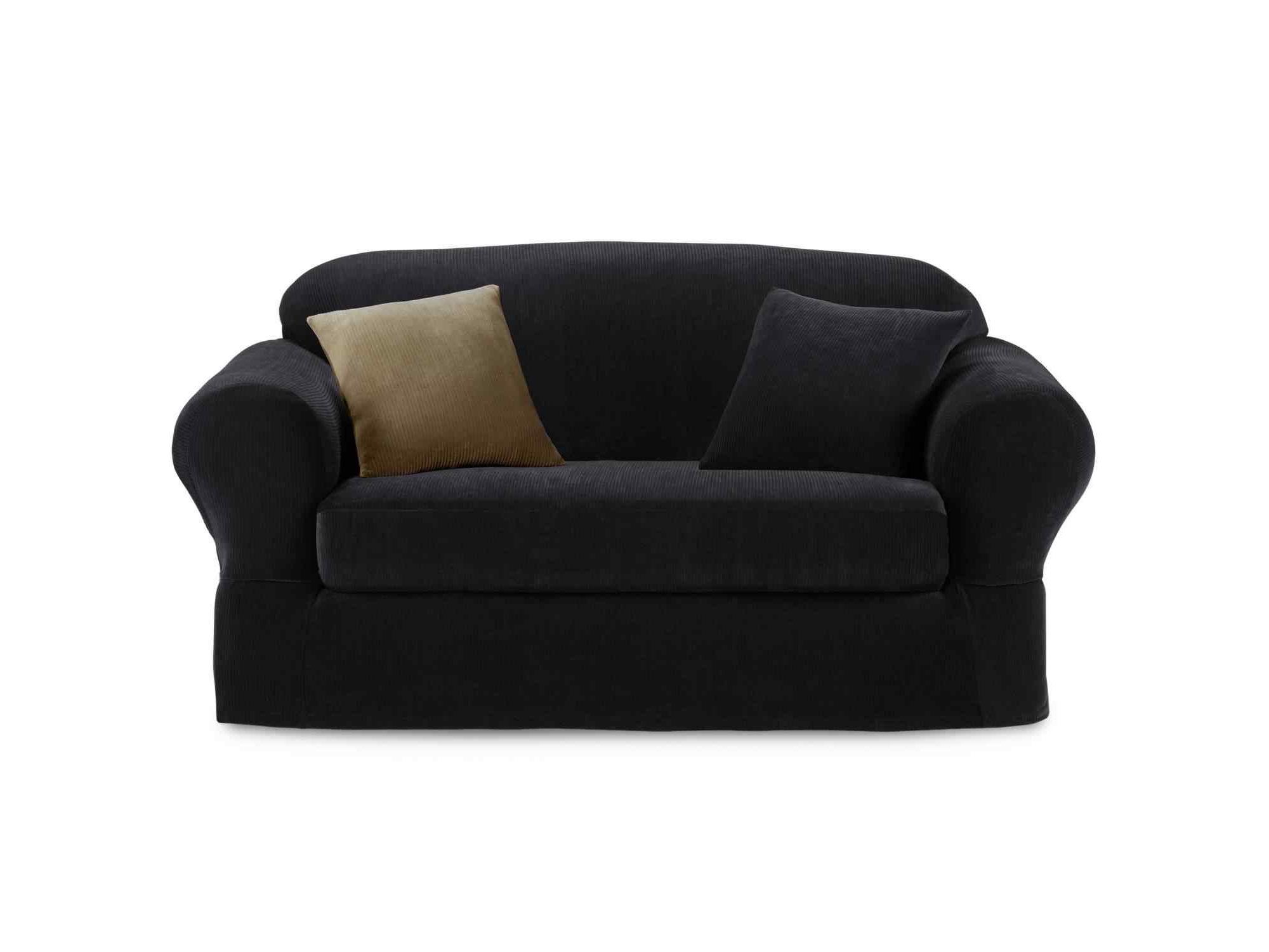 UPC Maytex Studio Collin 2 pc Stretch Ribbed Sofa