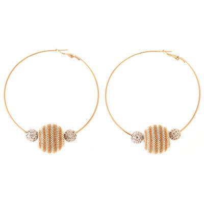 Natasha Accessories Clear Hoop Earrings