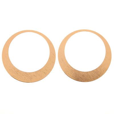 Natasha Accessories 2 1/2 Inch Hoop Earrings