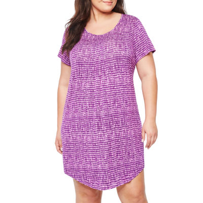 Ambrielle® Cap-Sleeve Nightshirt - Plus