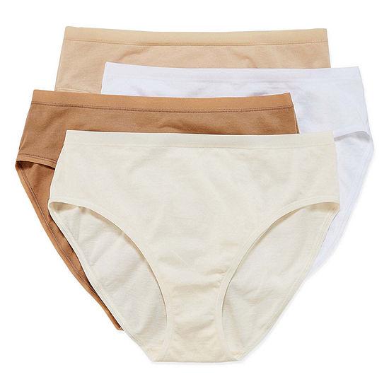 Underscore Modern Cotton 4 Pair Knit High Cut Panty