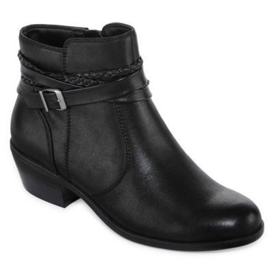 Yuu Womens Pamin Bootie Stacked Heel Zip