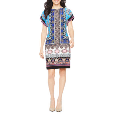 Studio 1 Short Sleeve Shift Dress