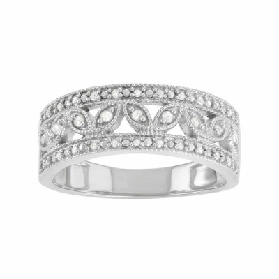 Womens 1/2 CT. T.W. Genuine White Diamond Sterling Silver Band
