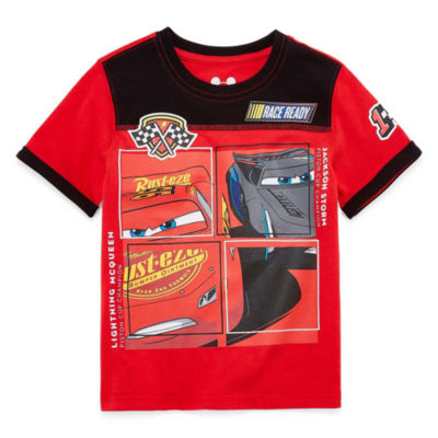 Disney by Okie Dokie Short Sleeve Crew Neck Cars T-Shirt-Toddler Boys