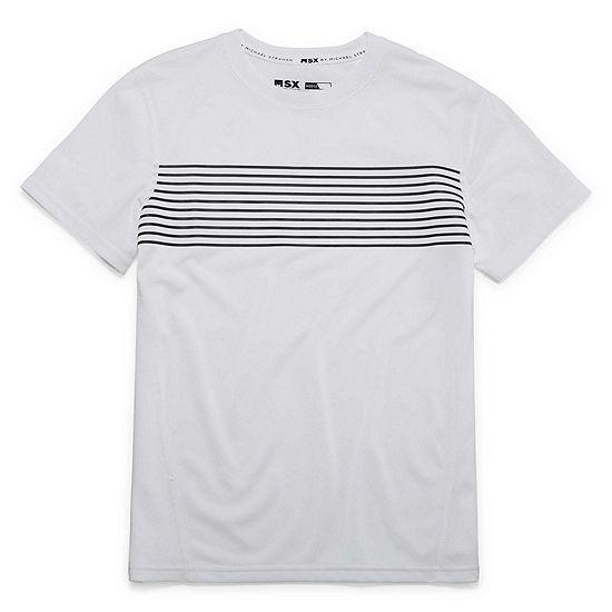 Msx By Michael Strahan Boys Crew Neck Short Sleeve T-Shirt-Big Kid