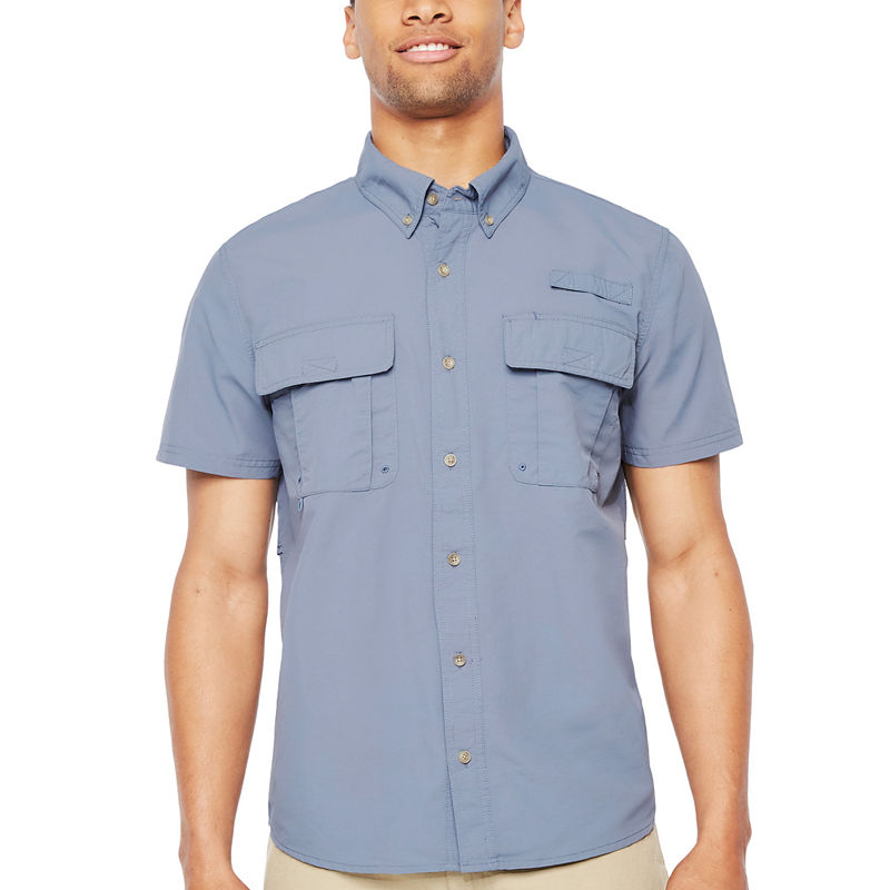image of Smith Workwear Short Sleeve Button-Front Shirt-ppr5007260348