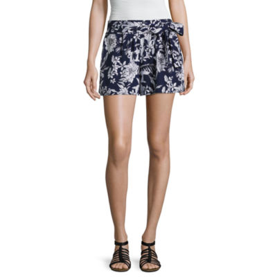 by&by Floral Tie Waist Soft Shorts