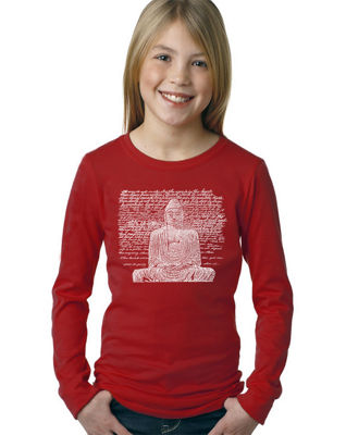 Los Angeles Pop Art Zen Buddha Long Sleeve Graphic T-Shirt Girls