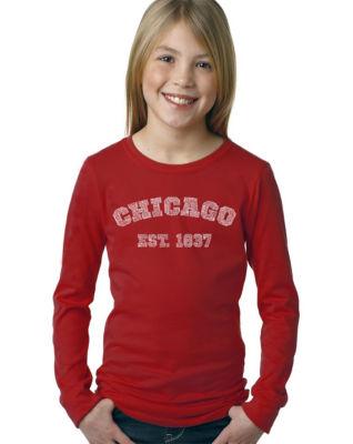 Los Angeles Pop Art Chicago 1837 Long Sleeve Graphic T-Shirt Girls