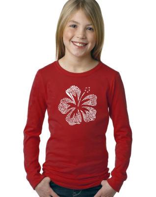 Los Angeles Pop Art Mahalo Long Sleeve Girls WordArt T-Shirt