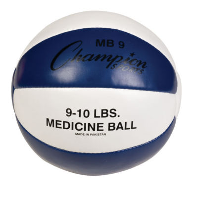 Champion Sports 9-10lb Leather Medicine Ball