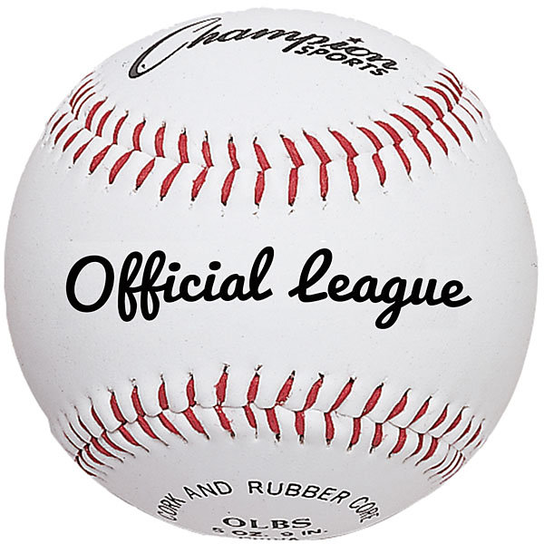 Champion Sports Official League Baseball Syntex Leather