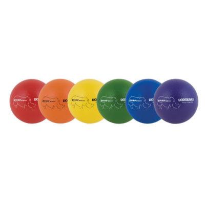 Champion Sports 6 Inch Rhino Skin Low Bounce Dodgeball Set Rainbow