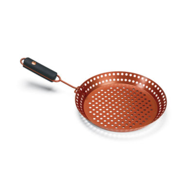 Outset BBQ Copper Non-Stick Grill Skillet with Removable Soft-Grip Handle