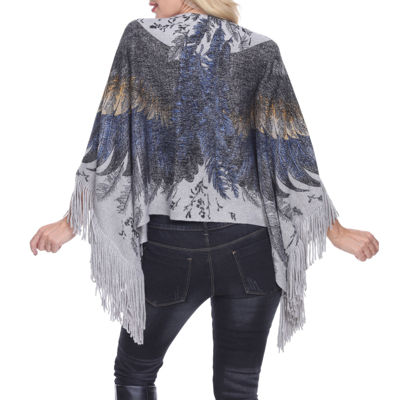 White Mark Eagle Wings Poncho
