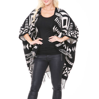 White Mark Patterned Cardigan Cardigan