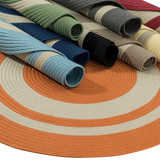 Colonial Mills Oceanside Braided Round Reversible Indoor/Outdoor Rugs