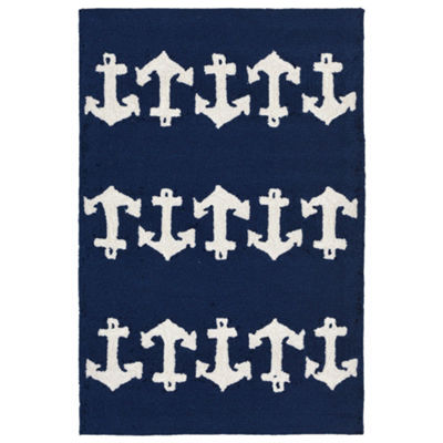 Liora Manne Capri Anchor Hand Tufted Rectangular Rugs