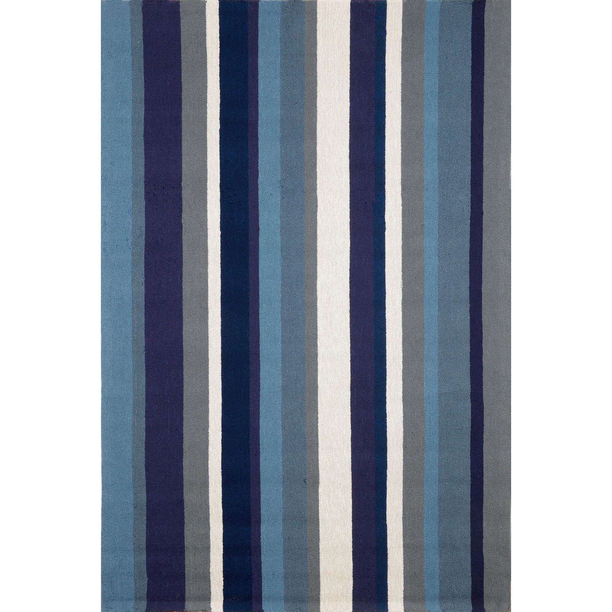 Liora Manne Newport Vertical Stripe Hand Tufted Rectangular Rugs