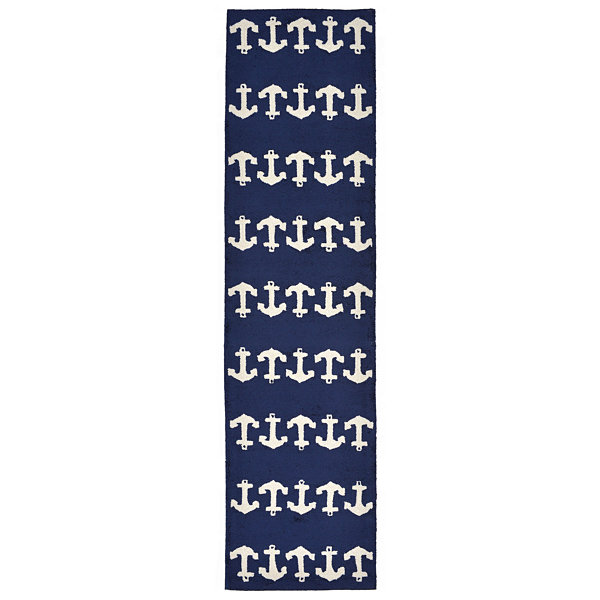 Liora Manne Capri Anchor Hand Tufted Rectangular Runner