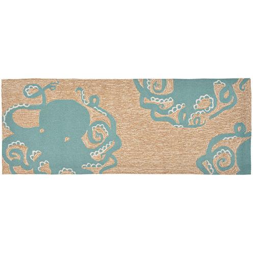 Liora Manne Frontporch Octopus Hand Tufted Rectangular Runner